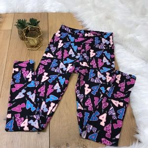 LulaRoe Number 4 Candle Leggings
